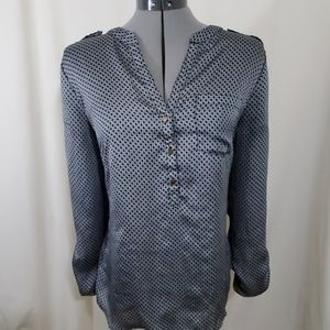 THE LIMITED Black and Gray Blouse Size L